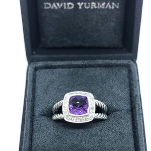 David Yurman Petite Albion Ring Amethyst & Diamond